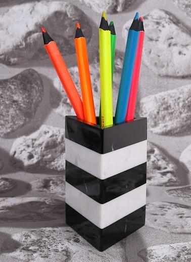 3Wdesign El Yapımı Mermer Kalemlik Küçük Boy Siyah